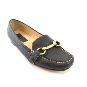 Coach Eve Buckle Brown Loafers Shoes Size 6.5 M